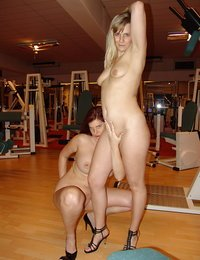 Two girls in the gym